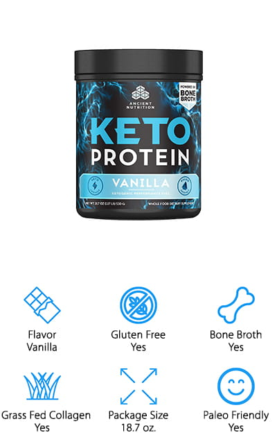 Ancient Nutrition Keto Protein Powder