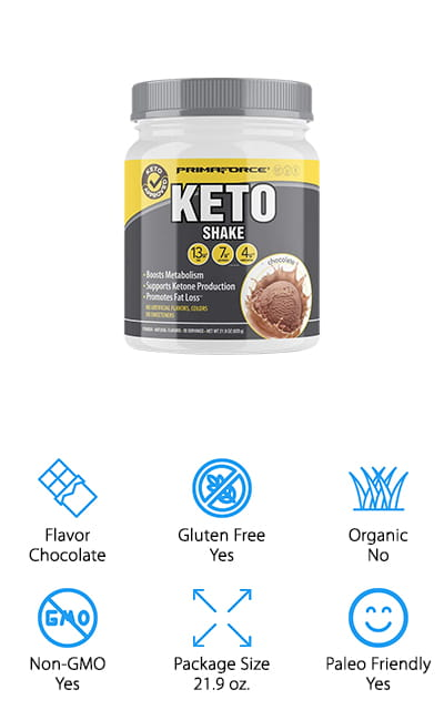 This meal replacement shake is designed to curb your appetite and help support weight loss, as well as enhancing ketosis. It's full of just the right MCT's to increase fat oxidation, metabolism and weight loss plus decreases appetite. You can use it as a meal replacement option and trust that it's made just for you with grass fed whey protein, no added sweeteners or flavors and absolutely no GMO ingredients. With 20 servings per canister, you'll also be ready to go any time. All you need is some coffee, a smoothie or even your favorite milk or alternative milk product and you'll get the benefits just like that. The best keto shake is designed to keep you moving and make sure that your workout is going to go even better than normal.