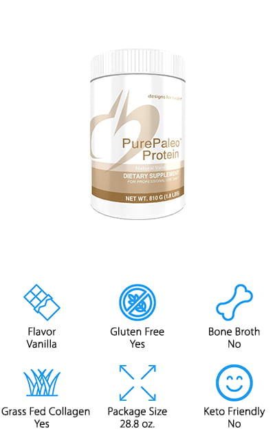This vanilla flavored protein powder is made with pure beef collagen peptides, designed to give you all the health benefits that you're looking for. Available in additional flavors as well, it's dairy free and helps to support connective tissue as well as joints and bones. You'll get plenty of amino acids and protein but no GMO's or gluten. Designed for maximum absorption, it's great for your next workout because you'll have the energy and focus that you need to continue to do your best. That way you can really enjoy your workout and still enjoy the snack you have with this powder as well. This protein powder is great for conditioning and recovery during your workout and has a low level of carbs. On top of that, it's free of soy, dairy and rice, which are three common allergens that can make it difficult for those who are trying to use protein powders during their diet or weight loss program.