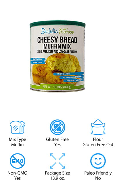 Diabetic Kitchen Cheesy Muffin Mix