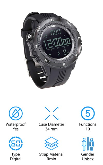 Pyle Multifunction Sports Watch