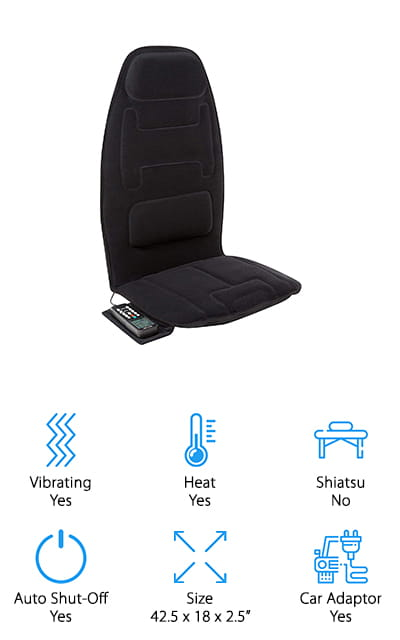 Relaxzen Massage Seat Cushion