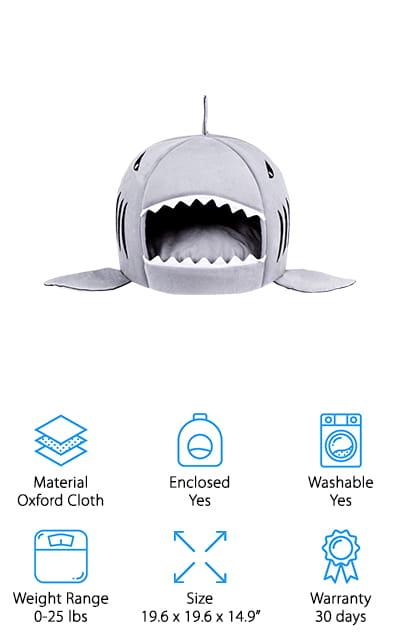 Likedog Shark Pet House