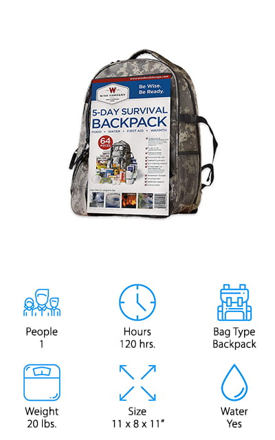 Wise Company Bug Out Backpack