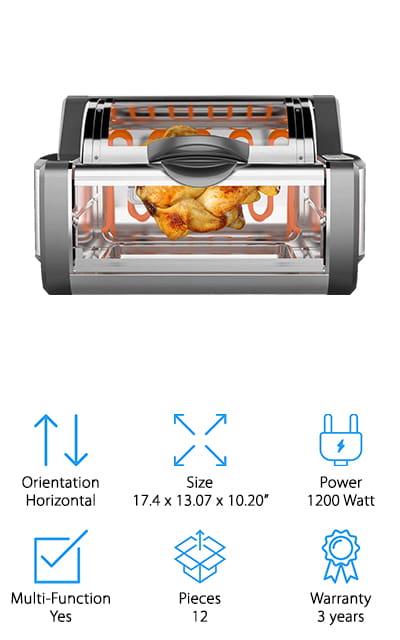 NutriChef Digital Rotisserie Oven