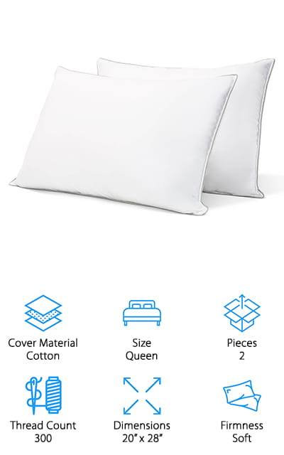 WENERSI Goose Down Pillows