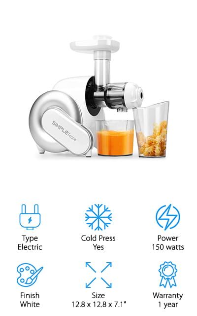 SimpleTaste Masticating Juicer