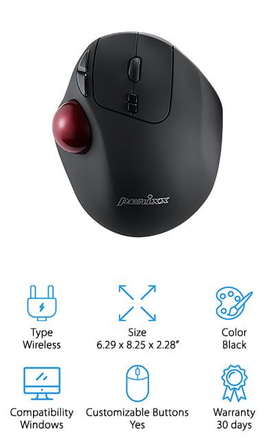 Perixx PERIMICE-517 Trackball Mouse