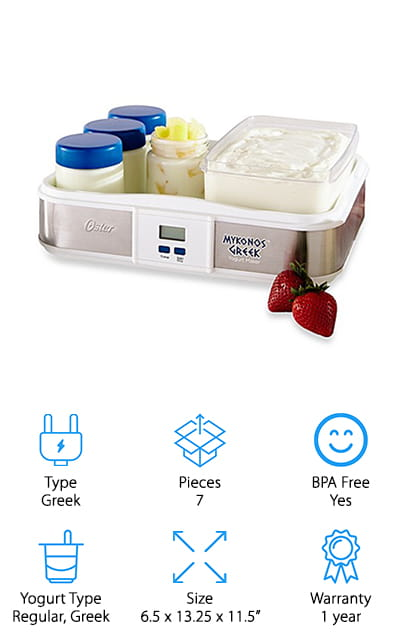 Oster Mykonos Yogurt Maker