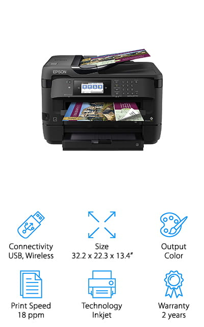 This SureColor printer by Epson was absolutely made for all of your creative and photographic printing. This means that it includes 8-color inkwells that give you vibrant and perfectly mixed color every time, with different channels for matte colors and photo black pigment. You get a smooth look and a great feel on any type of fine art or photo papers, including cardstock! You can be free to print as much as you want. Each of these eight color wells are individual, so you will only have to replace one at a time instead of replacing all of them! That's pretty amazing, we think. We love that this printer is specifically for those creative projects you're into, as well as roll paper support so you can get the print that you want on whatever media you need it on with no worries. You really can't get much better if you're looking for a machine with creative support!
