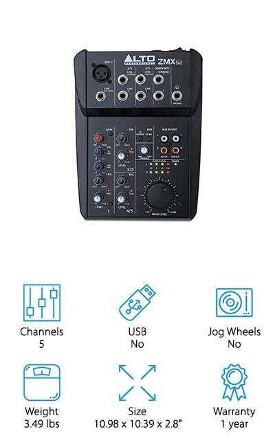 Alto Professional ZMX52 Mixer