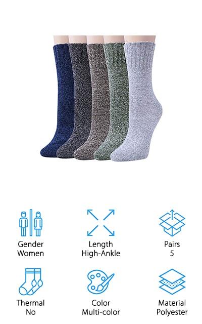 Loritta Winter Crew Socks
