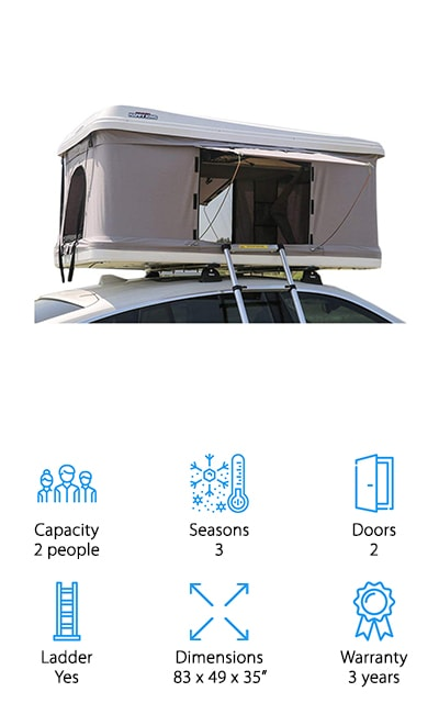 DANCHEL Hard Shell Rooftop Tent
