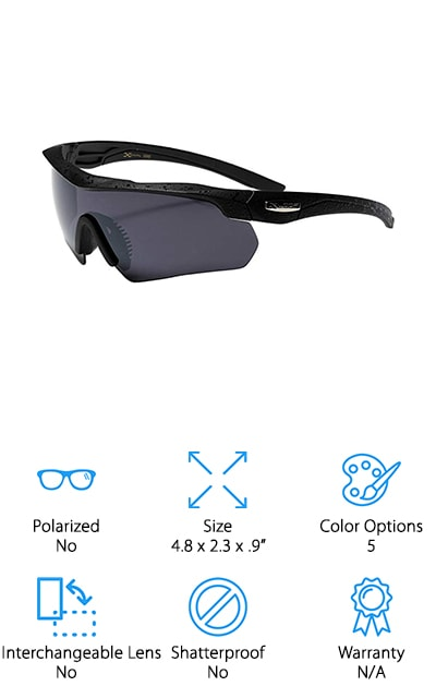 If you want something inexpensive enough to fit any budget but still with plenty of features then these glasses are for you as our best youth baseball sunglasses. They come in 5 different color options and they have a plastic design of frame and lens that makes them durable but still lightweight. They are non-polarized, but feature standard 100% UV400 protection. There's even a drawstring pouch included that makes them easy to store and easy to carry around with you no matter where you want to go or what you're going to be doing when you get there. All you have to do is slip these sunglasses on and you'll know why they're a great option. They have a comfortable fit, a great design and they definitely work for exactly what you need. Just check them out for your next baseball game and see.
