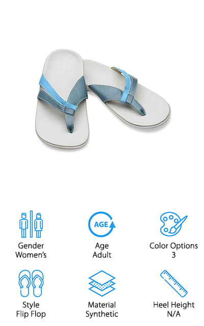 Last up is this pair of simple, elegant sandals from Spenco! These flip-flop sandals are made of synthetic materials – even the straps, which look just like real leather. The 3 classic color options would look perfect with a casual vacation outfit, or toss on a pair with your favorite sundress for a garden party or romantic dinner on the beach! The delicate straps are comfortable to wear all day, and look just like your other strappy sandals! They are relatively thin shoes with only a little arch support, so they're perfect if you have low arches and don't want the extra padding. The heel dip is great for a long day of walking around! If you're already a fan of Spenco shoes, or you want a strappy sandal with a little added support, definitely give these a try on your next vacation!
