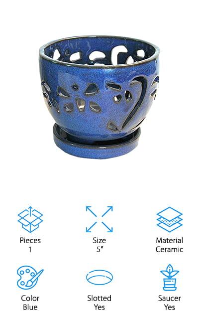 rePotme Ceramic Orchid Pot