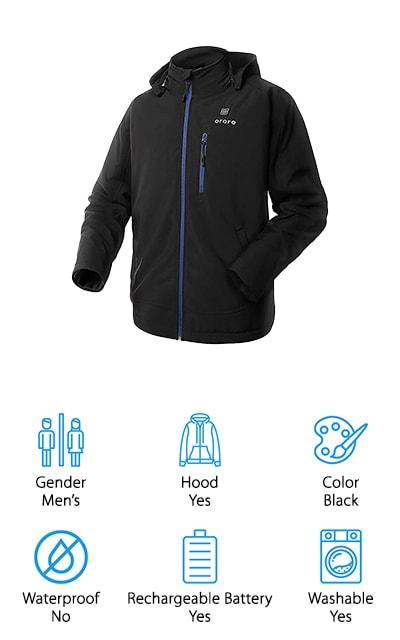 ororo Men's Heated Jacket
