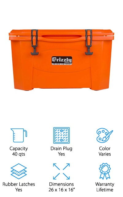 Grizzly Roto-Molded Cooler
