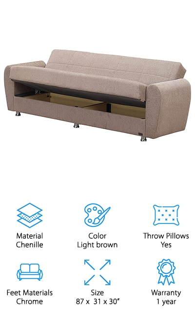 BEYAN Colorado Convertible Sofa Bed
