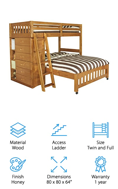 Discovery World L-Shaped Bunk Bed