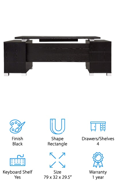 Zuri Furniture Executive Desk