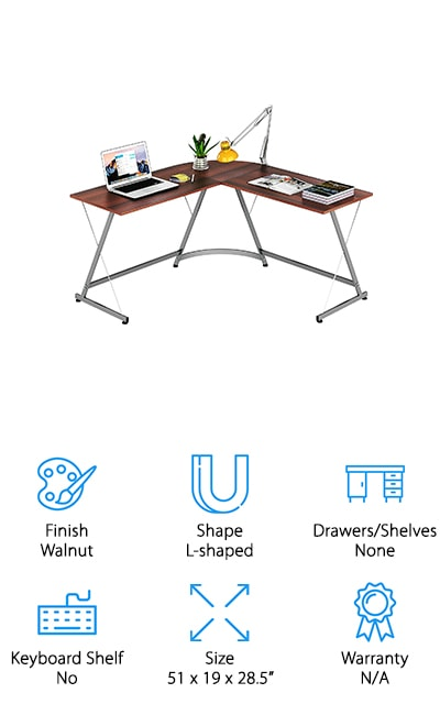 SHW L-Shaped Corner Desk