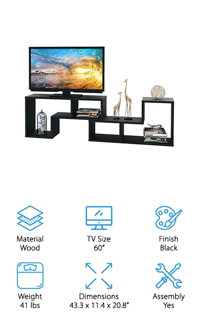 DEVAISE 3-in-1 TV Stand