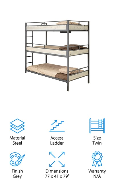 TriBunk Triple Bunk Bed