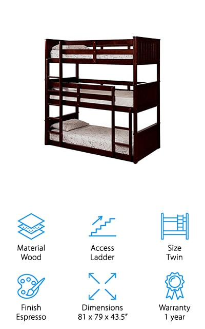 Bowery Hill Triple Bunk Bed