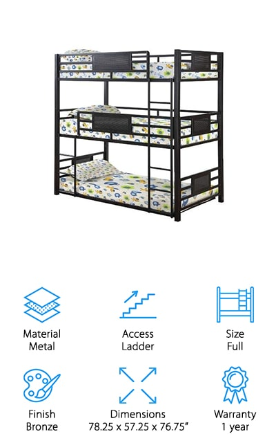 Coaster Home Triple Bunk Bed