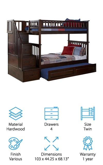 Atlantic Furniture Columbia Bunk Bed