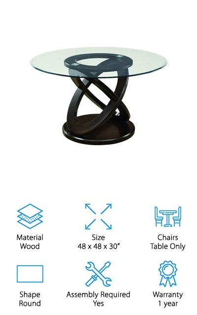 Monarch Glass Dining Table