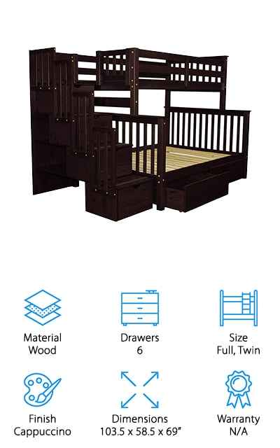 Best Bunk Beds with Stairs for Kids