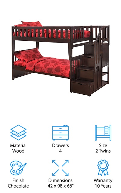 Night & Day Furniture Bunk Bed