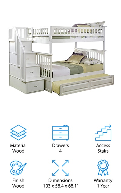 Atlantic Furniture Columbia Bunk Bed