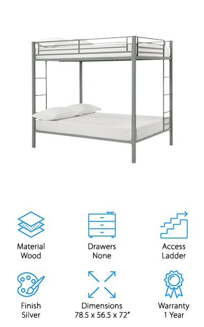 DHP Metal Bunk Bed