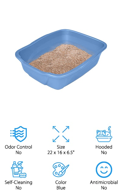 Our last cat litter box on the list is the Noa Store Cat Litter Box! This litter box is your classic litter pan. Made from durable plastic, it also has a high polish finish for odor and stain resistance. This litter box only comes in one color, but if you're not picky on color this box has everything you need. This litter box is known as the best litter box for multiple cats who have basic litter pan needs. Some have even used this litter box for cats who have recently had kittens and said that it worked marvelously. Although this particular model doesn't have odor control or antimicrobial properties, the durable plastic and price make this litter box a great value. The bottom line is: if you're looking for a simple, sturdy solution for your home with multiple cats, the Noa Store Cat Litter Box has the essentials you need to keep your home clean and waste-free.