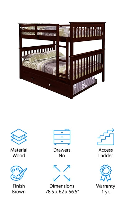 DONCO Full Bunk Bed