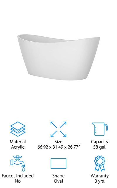 Empava Soaking Spa Tub