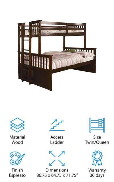 Furniture of America Pammy Bunk Bed