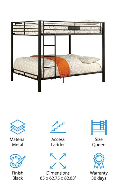 Furniture of America Rivell Bunk Bed