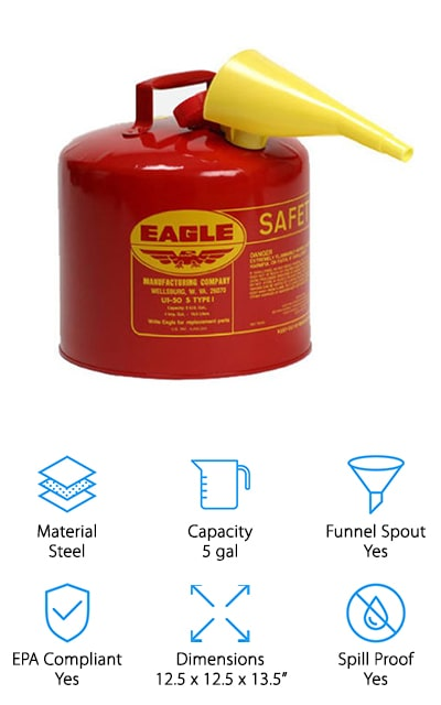 Eagle Type I Gasoline Can