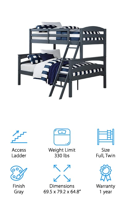 Dorel Living Brady Bunk Bed