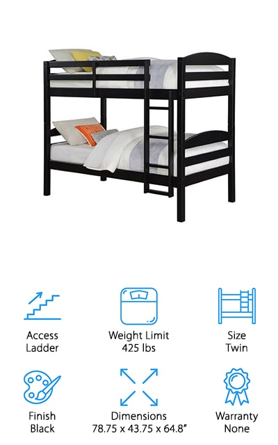 Mainstays Wood Bunk Bed