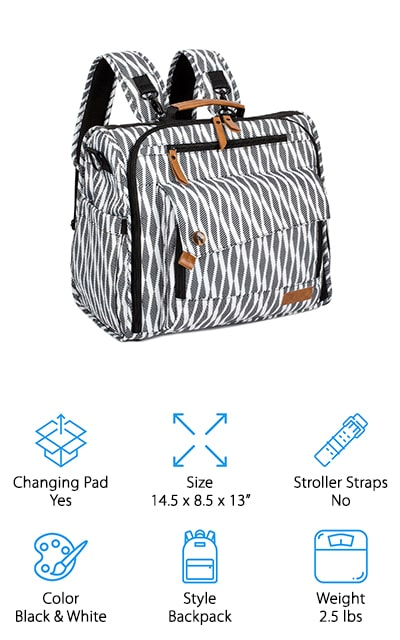 ALLCAMP Diaper Bag Backpack
