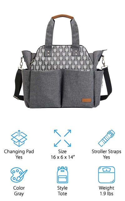 Lekebaby Large Diaper Bag