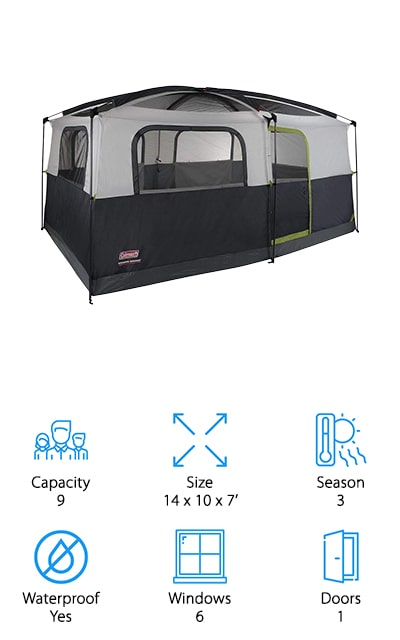Coleman Prairie Breeze Cabin Tent
