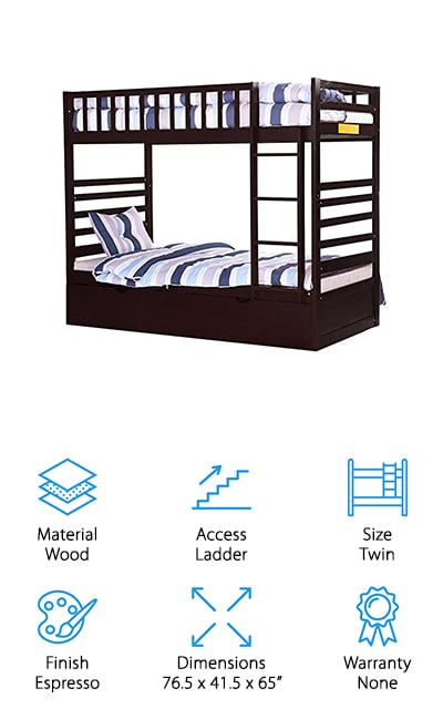 Merax Trundle Bunk Bed