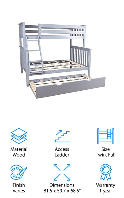 Max & Lily Trundle Bunk Bed