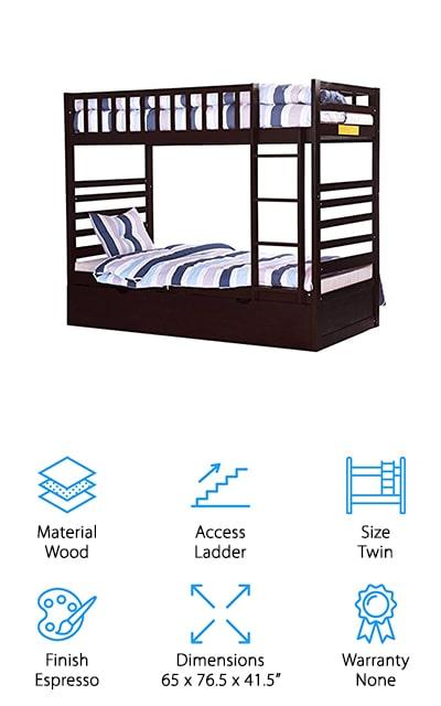Merax Trundle Bunk Bed